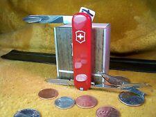 Red Ambassador Victorinox Swiss Army folding knife VG + New Handles
