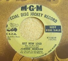 Joanne Morgan ‎– Just How Loud (Must The Music Play) / Take Me Back ~ Promo