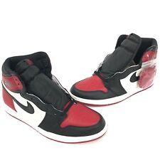 2018 Authentic Nike Air Jordan 1 Retro High OG Bred Toe Black Red White Sz 10.5