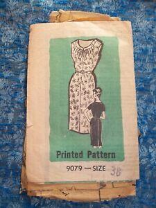 Vintage 1950s-60s Ladies Pencil Dress Sewing Pattern MAIL ORDER Pattern Size 38