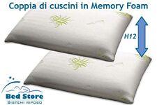 COPPIA di cuscini in MEMORY FOAM Saponetta SFODERABILE CON RIVESTIM. ALOE VERA