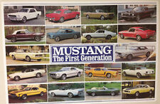 Mustange First Generation 1964 -1973. Out of Print Car Poster Great Price !!!