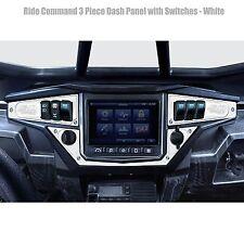 3 Piece 6 Switch Dash Panel White for 2017+ Polaris RZR XP1000 Ride Command Edi