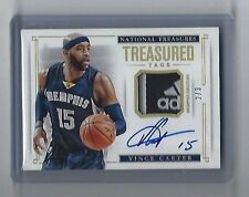 *SICK 2014-15 NATIONAL TREASURES VINCE CARTER GU TREASURED TAGS AUTO /3 GRIZZLES