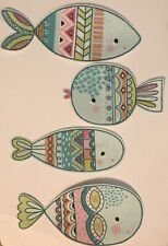 Blue Fish  - Iron On Fabric Appliques