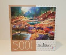 Big Ben COLORFUL STONES 500 Piece Jigsaw Puzzle Milton Bradley