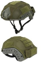 TELINO SOFTAIR COPRI ELMETTO FAST PJ OD GREEN AIRSOFT HELMET COVER 14976 TOP FLY