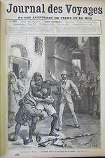 JOURNAL DES VOYAGES N° 485 de 1886 MAROC RIXE de RUE PROCESSION CINGHALAIS PARIS