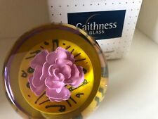 caithness paperweight limited edition, Gordon Hendry 'New Rose' in original box