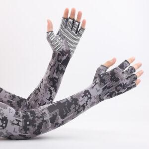 Thin Driving Gloves Long Sleeves Gloves Men Sunscreen Gloves Ice Silk Gloves