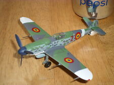 WW#2, ROMANIA, MESSERSCHMITT Bf 109G, FIGHTER PLANE, DIECAST METAL, SCALE: 1/72