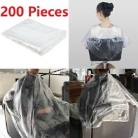 200pcs cape de coupe de cheveux jetable cape de salon transparente cape maison