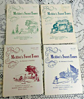 4-MCAFEE'S SWEET TONES BOOKLETS-1957-58-MCAFEE CANDY CO. MACON GEORGIA GIVE AWAY