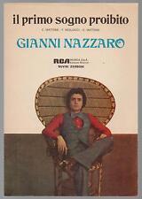 GIANNI NAZZARO il primo sogno proibito spartito sheet music disco estate 1973