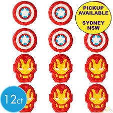Avengers Party Supplies 12 Cupcake Icing Decorations Wilton Cake Toppers