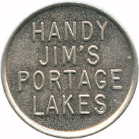 Handy Jim's Portage Lakes, Ohio OH 5¢ When Properly Issued Trade Token