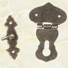 Vintage Gift Box Jewelry Box Metal Hasp Lock Latch Catch Clamp Clip DB
