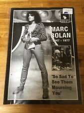 MARC BOLAN - T REX - Rumblings Magazine Issue 9