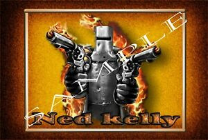 Metal Tin Sign Bar,Office, Man Cave, Ned Kelly
