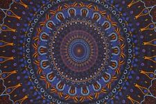 Handmade Cotton 3D Eclipse Psych Art Tapestry Tablecloth Spread 60x90 Inches