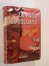 LA PAGA DEL SOLDATO William Faulkner Massimo Alvaro Garzanti romanzi moderni di