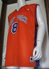 48 (54) Mens Champion Latrell Sprewell New York Knicks Basketball Jersey Orange