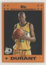 2007-08 Topps Retail Factory Set Orange Kevin Durant #2 Rookie