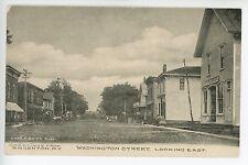 Early BRUSHTON NY Washington Street Dirt Road Horse General Store ca. 1912