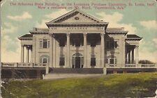 Saint Louis Exposition 1904 - Arkansas State Building - 1914 - RPO CANCEL
