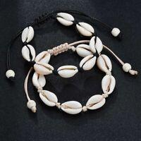 Persönlichkeit Boho Kauri Muscheln gewebt Seil einfaches Armband ModeSchmuck