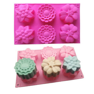 Silicone Flower Cake Mold Chocolate Baking Mold Pudding Jelly Mould Cake Dec_KN
