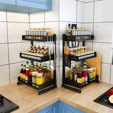 Küchenregal Spice Rack Organizer 3 Tier Gewürzregale für Küche Badezimmerschrank