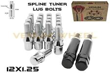 2013-2018 Dodge Dart All Models 20pc Chrome 12x1.25 Spline Tuner Lug Bolt Kit