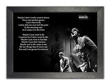 Oasis-Live Forever Englisch Rock Musik Band Liedtexte Bild Poster