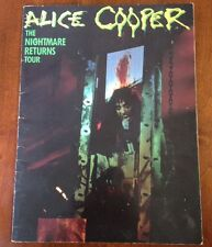 ALICE COOPER RARE MEMORABILIA 1986 The Nightmare Returns Tour Book Program