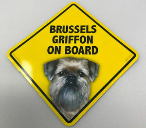 Brussels Griffon Dog On Board Magnet Laminated Car Pet Magnet NEW 6x6