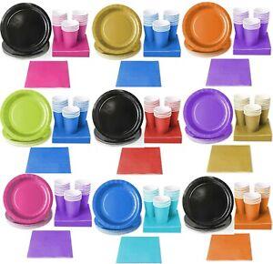 Party Pack Bundle Set, napkins cups plates tablecover, Great Colour Combinations