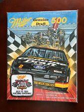 MILLER ( Genuine Draft )  500 Pocono Raceway Program
