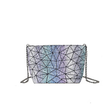 Women's Bling Hologram Chain Shoulder Bag Holographic Bags Tote Satchel Handbag