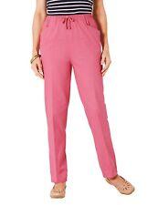 Cotton Drawstring Cotton Trousers Pink Size UK 26 L25 rrp £30 DH088 MM 18