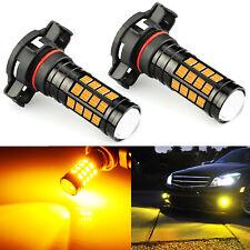 JDM ASTAR 2x 1600LM PSX24W 2504 Amber 99-SMD LED CAR DRL Fog Driving Light Bulbs