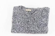 AGNES B HOMME Melange Cozy Crewneck Sweater Sz L Fall Winter Staple