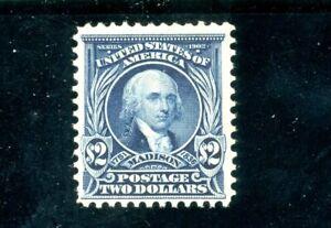 USAstamps Unused FVF US Serie of 1902 $2 Madison Scott 312 NG