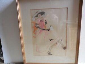 """""""Lady in Pink"""" Pencl Sketch - framed"""