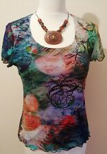 Evalinka Designer Ladies Top Made In Italy. Size 3 / UK10 Ex Condition. Lined