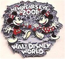 RETRO MICKEY+MINNIE DANCING Movement NEW YEAR'S EVE 2001 WDW LE Disney PIN