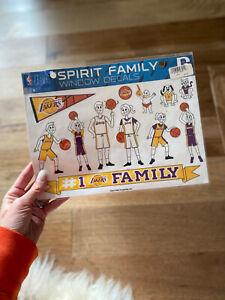 Los Angeles Lakers Spirit Family Decals NEW NBA car/truck window - NWT Kobe