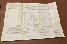 1910 Panama Canal Diagram Show Detail Concrete Barge to Support Hydraulic Pump