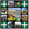Devon - Souvenir Nouveauté Place Aimant de réfrigérateur - Sites / DRAPEAUX/