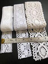 Job lot 5 Bundles Over 10 Metres Black Cotton Crochet Edging Lace